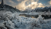 Frosty (Traylor Photography) Tags: alaska spring landscape winter eaglerivernaturecenter nature panoarama mountains sunbzero frost snow sunrise clouds anchorage unitedstates us