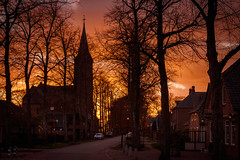 The village.... (80D-Ray) Tags: hernen gelderland sunset clouds sky red blue purple colour