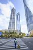 Street Sweeper (BillikenHawkeye) Tags: lujiazui shanghai pudong china skyscraper building street