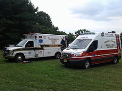 New Jersey ambulances (CasketCoach) Tags: ambulance ambulancia ambulanz ambulans rettungswagen krankenwagen paramedic ems emt emergencymedicalservice firefighter fordtransit