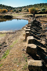 'poldras' (stepping stones) over the River Pônsul in Idanha-a-Velha (Gail at Large | Image Legacy) Tags: 2017 idanhaavelha portugal gailatlargecom poldras