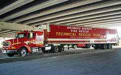 Broward County Fire Urban Search & Rescue (Infinity & Beyond Photography) Tags: sterling tractortrailer truck broward county sheriff fire urban search rescue technical team overpass