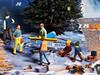 349/365 NOCH-Adventskalender(15) - Wo geht's zum Biergarten (J.Weyerhäuser) Tags: nochfiguren h0figuren h0 nochadventskalender mann rucksack biergarten snowboarder skifahrer schlitten
