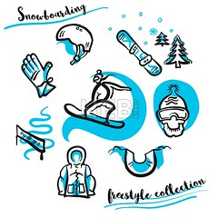 Snowboarding freestyle collection hand drawn set (Hebstreits) Tags: activity background board collection course design doodle drawn equipment fun gloves googles halfpipe hand hat helmet icon illustration isolated jacket line season set sketch snow snowboard snowboarder snowboarding snowflake sport travel tree trick vacation vector white winter