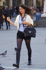 Shorts and Rubber Boots 1 (booster_again) Tags: shorts tights pantyhose boots
