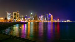 Doha Corniche (Mohammed Qamheya) Tags: doha qatar dohacorniche dafnatowers nikon d500 tokina tokina1116 tokinaatx116prodxii longexposure wideangle