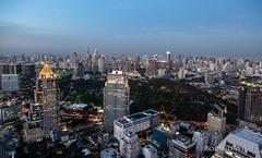 Bangkok (Rolandito.) Tags: asia southeast south east thailand bangkok silom si lom rooftio cityscape dusk twilight night evening light lights vantage point banyan tree vertigo moon bar blue hour