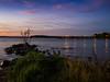 Ducks and Reflected Glow (melissaenderle) Tags: autumn mendota lake wisconsin sunset