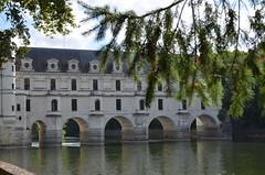 Chenonceau (dfromonteil) Tags: château castle chenonceau river rivière fleuve branch building bâtiment histoire history water eau vert green white blanc
