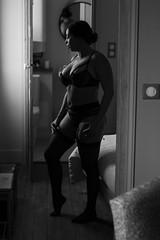 Nidcy Namite. (Nicolas Fourny photographie) Tags: canon 600d 50mm model beauty portrait portraiture womanportrait girlportrait sensual sensuality lingerie gorgeous curvy beautifulgirl beautifulwoman blackandwhite noiretblanc bw naturallight dof depthoffield profondeurdechamp beautifulbrunette