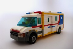 Mobile Stroke Unit - Ambulance Victoria (Lonnie.96) Tags: melbourne royal hospital trial 2017 november 20 mobile stroke unit ambulance victoria vehicle wheel red white blue yellow emergency service australia van ct scan rescue medical car door cardiac cabin front back side