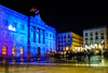 Barcelona City Hall against death penalty (j.borras) Tags: city hall christmas lights nativity scene solidarity night street photography blue barcelona bcn 28mm with movement for abolition death penalty