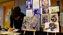 Edinburgh Comic Art Festival 2017 015 (byronv2) Tags: ecaf edinburghcomicartfestival comics bande dessineefestivalpeople watchingedinburghedimbourgleithout blue drill hallscotlandliteraturekathryn briggs artist author outofthebluedrillhall comicfestival bandedessinee peoplewatching writer smallpress indycomics