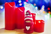 (jeansinclair1) Tags: christmas decorations ornament candles light bokeh heart red knitted 52in2017challenge 46traditionortraditional