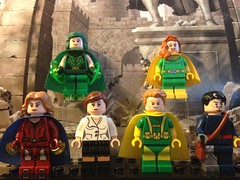 Muir Island X-Men (Earth-616) (David$19) Tags: lego legomarvel legoxmen xmen muirislandxmen amandasefton daytripper polaris moiramactaggart banshee siryn forge