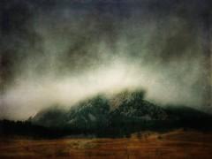 Fog Over the Flatirons (katezariroberts) Tags: stackables theflatirons bouldercolorado