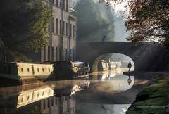 Canal Commuters (calderdalefoto) Tags: hebdenbridge calderdale westyorkshire yorkshire england uk canal
