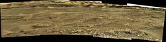 Terrain to the Foothills, variant (sjrankin) Tags: 19november2017 edited nasa mars panorama curiosity galecrater mountains terrain sky