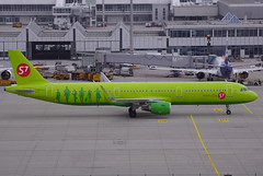 S7 Airlines A321-211 VP-BPO. 18/11/17. (Cameron Gaines) Tags: cn 5779 first flew hamburg finkenwerder 25th iof september 2013 dazax before being delivered veb leasing leased utair aviation vpbpo 1st october the aircraft was khantymansiysk 4th arriving 5th flown teruel for storage january 2015 stored year sold smbc s7 may 2016 retained registration had winglets fitted april 2017 current november siberia airlines airbus a321211wl taxiing gate munich airport terminal 1 181117 a321 muc germany russia moscow