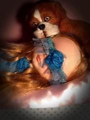 "Blythe-a-Day#19. Mask: Barkley Asks Wyn: ""Are You Asleep?"""