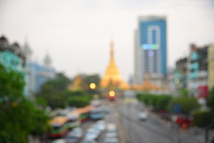 Blurred of main street in Yangon, Myanmar (phuong.sg@gmail.com) Tags: abstract architecture backdrop background beautiful beauty big blur bridge bright building business circle city cityscape cloud concept construction day downtown effect financial flare glow highway horizon hotel landmark landscape modern nature office road shine shiny sky skyline smooth soft space sun sunrise sunset town travel