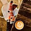 Happy Thanksgiving! (MacroMarcie) Tags: self table cafe coffee latte fall square feet happythanksgivinc thanksgiving hank
