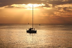 Sailing in golden sea - Tel-Aviv beach (Lior. L) Tags: sailingingoldenseatelavivbeach sailing golden sea telaviv beach sailboat telavivbeach israel travel