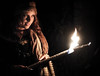 Are you sure? (jocsdellum) Tags: model light llum luz foc fuego fire performance witch wisewomen night atmosphere misterio mystery