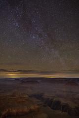 Milkyway tail at Yavapai Point (RyanLunaPhotography) Tags: 6d arizona california canon grandcanyon hiking nationalpark southwest yavapai camping desert landscape red rocks