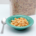 Cereal In a Bowl on a White Background