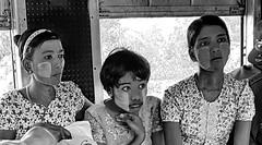Train Passengers (gerard eder) Tags: world travel reise viajes asia southeastasia birmania birma burma myanmar yangon train trainpassengers people peopleoftheworld women bw blackandwhite blackwhite blancoynegro sw