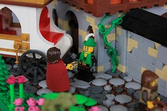 Sweet Swindling Satisfaction (jsnyder002) Tags: lego moc creation medieval town house ccc entry village switcheroo swindle con carriage roof wall snot design landscape courtyard