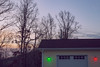 Colorful Kentucky Morning (matthewkaz) Tags: green red lights christmaslights garage sunrise sky trees jon leslie morehead rowancounty kentucky 2017