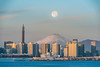 Yokohama Morning Moonset (muuu34) Tags: yokohama supermoon moon moonset morning cityscape mtfuji mt fuji landscape japan musashi sakazaki 横浜 高島町 月 満月 沈む 朝 風景