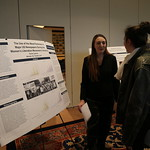 Emma Lawson presenting her Capstone poster