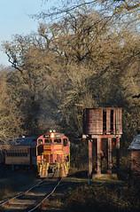 Willits, California (CN Southwell) Tags: california western rr railroad skunk train gp9 mendocino ca water tank