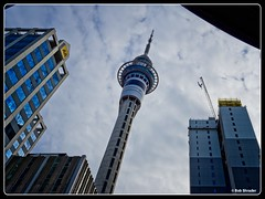 Auckland's Sky Tower (Bob Shrader) Tags: mft dxophotolab mirrorless microfourthirds camera skytower clouds cityscape photoborder pencamera raw postprocessing olympusmzuiko12100mmf40pro newzealand on1photoraw olympuspenf building sky auckland nzl architecture skyscraper sign