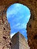 Prospettive (Sara Di Camillo) Tags: abruzzo travel roccacalascio fortress castle blue details fineart borghi ancient laquila landscape cityscape prospettiva
