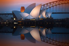 Of beauty rich and rare.. (Allieca Paterson) Tags: photoart mirrorimage edit photoshop reflection nsw newsouthwales sydneyharbour australianlandmarks allieca sydneyoperahouse sydney queensland australia