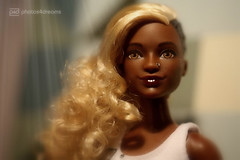 april, the new girl (photos4dreams) Tags: aprilp4d barbie mattel doll toy diorama photos4dreams p4d photos4dreamz barbies girl play fashion fashionistas outfit kleider mode puppenstube tabletopphotography aa beauties beautiful girls women ladies damen weiblich female funky afroamerican afro schnitt hair haare afrolook darkskin africanamerican canoneos5dmark3