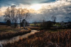 Sitting in a nowhere land ... (ramerk_de) Tags: hdr czechoslovakia bohemianforest sunset clouds river diamondclassphotographer