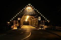 Covered Bridge (Jan Nagalski) Tags: nightlights bridge coveredbridge woodenbridge wood lights starlights stars holzbrucke bavarianinn frankenmuth michigan nightscene jannagalski jannagal