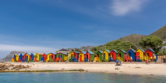 St James Beach and the colourful changing rooms (hjuengst) Tags: stjames capetown southafrica beach colourful bathingboxes falsebay
