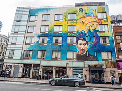 Federico García Lorca Mural (2015) by Raúl Ruiz, SoHo, Manhattan, New York City (jag9889) Tags: 2017 20170617 architecture auto automobile building car graffiti hdr highdynamicrange house lafayettestreet lowermanhattan manhattan monumental mural ny nyc newyork newyorkcity outdoor painting people portrait road soho sidewalk streetart tagging transportation usa unitedstates unitedstatesofamerica vehicle wall jag9889