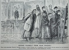 Defend Yourself from Your Friends! - Punch 1885 (AndyBrii) Tags: punch 1885 wit satire irony cartoons