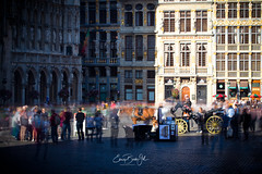 Waiting for a ride (Enricu) Tags: place tourists brussels carriage bruxelles belgium be