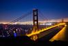Sun Goes Down on San Francisco (Thomas Hawk) Tags: 75thbirthdaygoldengatebridge america batteryspencer california goldengatebridge marin marinheadlands sanfrancisco usa unitedstates unitedstatesofamerica bridge millvalley us fav10 fav25 fav50 fav100