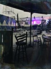 Geister Saloon (Casey Hugelfink) Tags: munich münchen schlachthof märchenbazar weihnachtsmarkt christkindlmarkt christmasmarket zirkus circus zirkuszelt circustent schnee snow winter night nacht illumination chairs table stuhl stühle feuerzangenbowle stephenking stephenkingscene