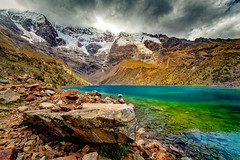 A dream come true. (Valter Patrial) Tags: peru pe cusco lake water mountains mountain glacier rock trekking nature lago água montanhas montanha glaciar rocha natureza cuzco