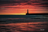 Roker Beach Sunrise (robinta) Tags: ngc sunrise dawn colour colors silhouette pier lighthouse architecture building historic landmark pentax ks1 sigma1770 sigma pentaxart seascape beach sea seaandsand water ocean